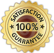 badge for 100 percent home security guarantee
